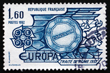 Postage Stamp France 1982 Treaty Of Rome, 1957