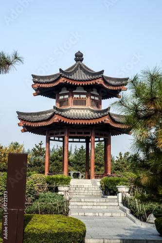 Foto op Plexiglas Xian Peony Pavilion