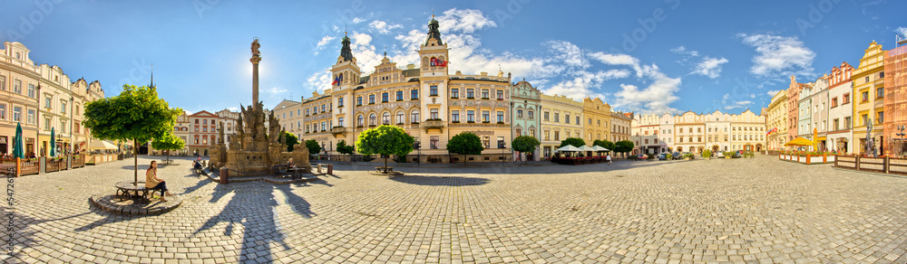 Fototapety, obrazy: Town square in Pardubice, Czech Republic