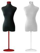Empty Female Mannequin Torso Template