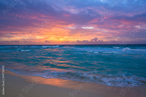 Poster Ochtendgloren Sunrise in Cancun
