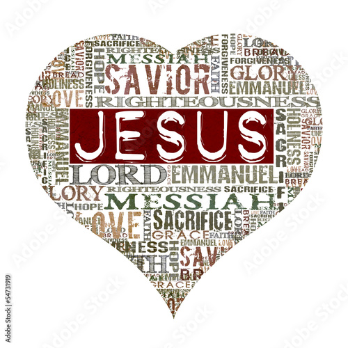 I Love Jesus Religious Words Isolated On White