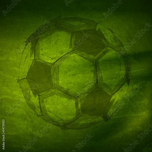 Foto-Schmutzfangmatte - Vector Watercolor Soccer Ball, easy all editable (von hubis3d)