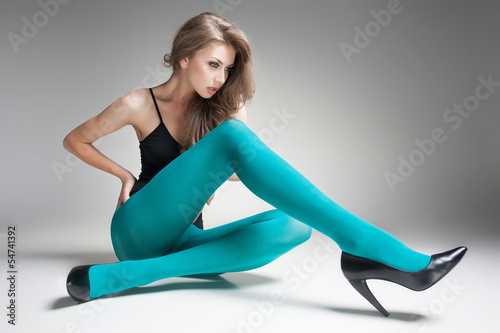 Long sexy legs in stockings