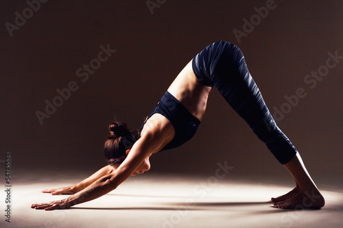 Fotografie, Obraz  Beautiful woman is working out