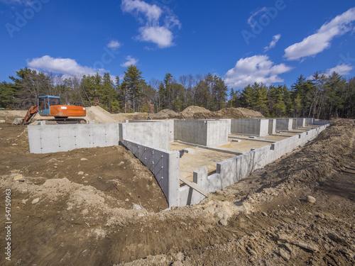 Fotografía  Concrete foundation to a new house
