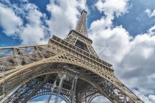 Tour Eiffel, Wideangle Street view, Paris, France