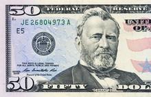Fifty Dollars Bill Fragment
