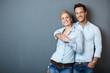 canvas print picture - gl¸ckliches attraktives paar