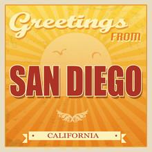 Vintage San Diego, California Poster