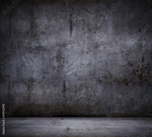 Staande foto Wand Black wall background