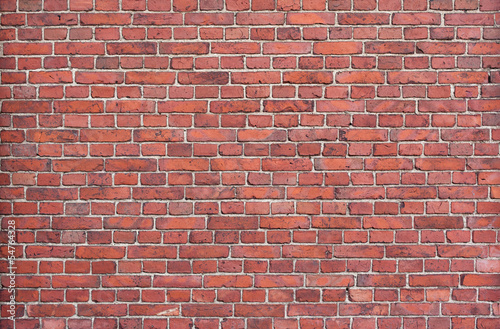 Background of red brick wall