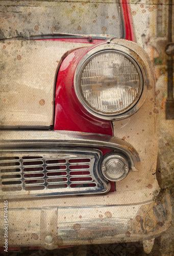 zderzak-i-reflektor-starego-samochodu-retro