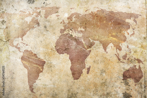 Obrazy mapa  vintage-mapa-swiata
