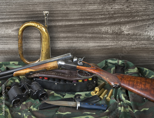 Foto op Canvas Jacht hunting equipment