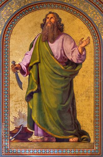 Vienna - Fresco of Abraham  in Altlerchenfelder church Fotomurales