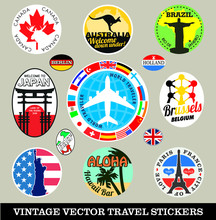 Vector Images Of Vintage Trave...