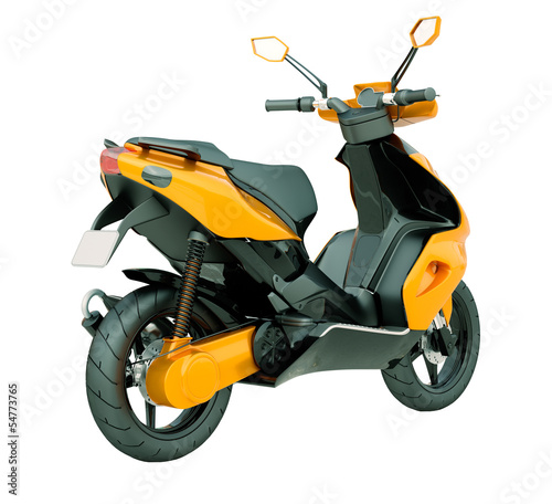 Poster Motocyclette Modern scooter isolated