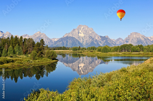 In de dag Natuur Park The Oxbow Bend Turnout in Grand Teton