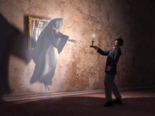 Hombre Encontrándose Con Un Fantasma