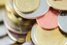 Close-up Of Thai Baht Coins