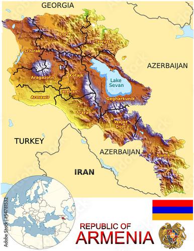 mapa-armenii-symbol-narodowy-symbol-mapy