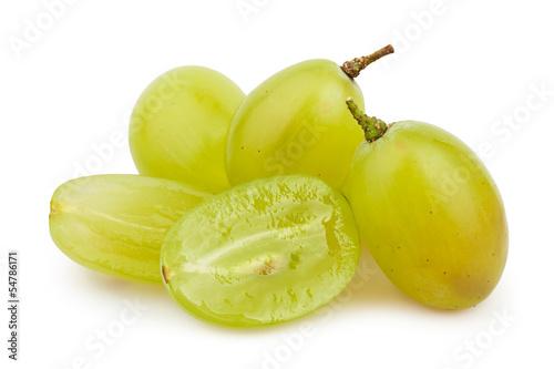 Fototapeta  white grapes cut group