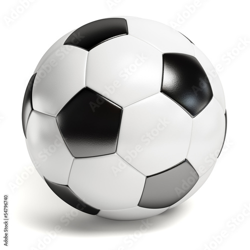 Spoed Foto op Canvas Bol Leather football. Single soccer ball isolated