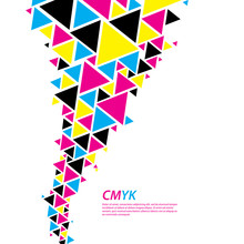CMYK Color Profile. Abstract Triangle Flow - Twister In Cmyk Col