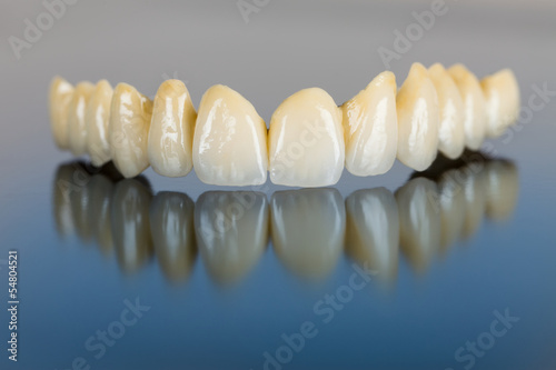 Fotografie, Obraz  Porcelain teeth - dental bridge