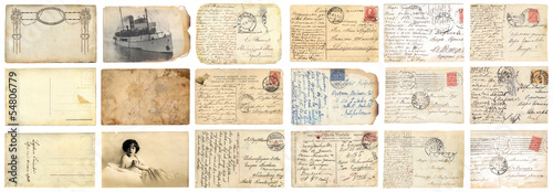 Fotografía  Old postcards set