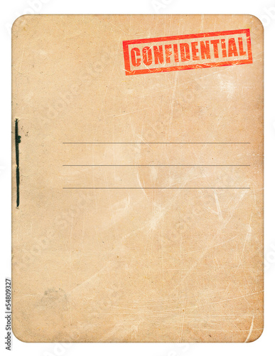 Fotografía  Confidential folder for papers