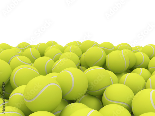 Heap of tennis balls with place for Your text