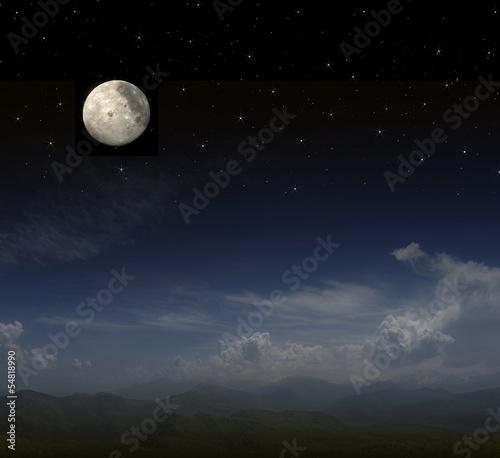 Poster Pleine lune full moon background