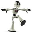 white robot balance