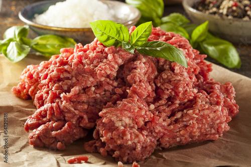 Fotografie, Obraz  Organic Raw Grass Fed Ground Beef