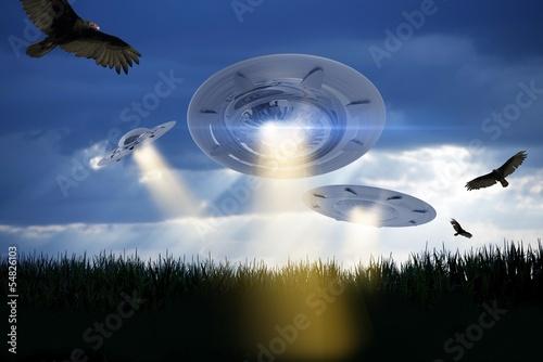 Photo  UFO Attack Illustration