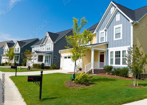Fotografie, Obraz  Street of residential houses