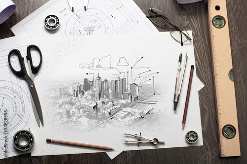 Fotografie, Obraz  Architectural project