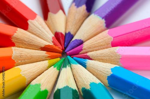 Colour pencils, close up