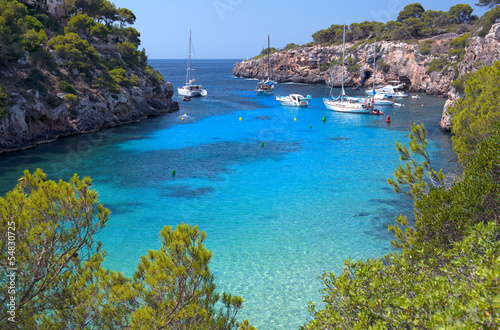 Fotografie, Obraz  The Beautiful Beach of Cala Pi in Mallorca, Spain