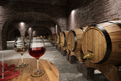 Ancient wine cellar Wallpaper Mural