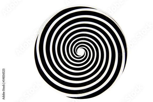 Papiers peints Spirale Black and white hypnotic whirlpool shape
