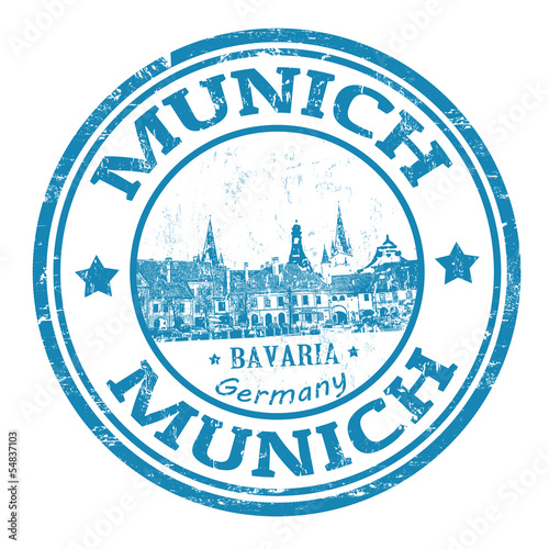 Fototapeta premium Munich stamp
