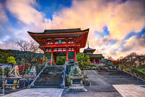 Spoed Foto op Canvas Bedehuis Kiyomizu-dera Temple Gate