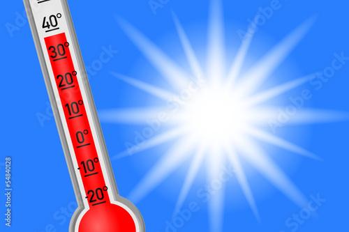 hitze thermometer I Fototapete
