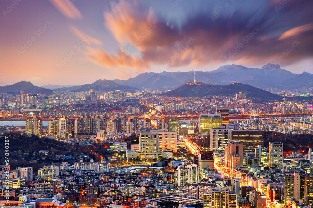 Photo  Downtown Seoul, South Korea