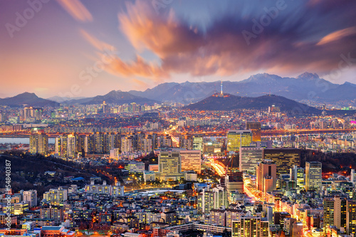 Downtown Seoul, South Korea Canvas Print
