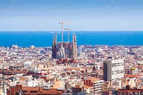 Photo sur Toile Europe Centrale view of Barcelona. Catalonia