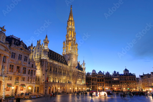 Foto op Canvas Brussel Grand Place, Brussels, Belgium